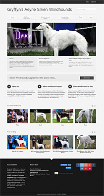 silken windhound breeder website design in Wordpress