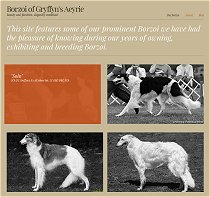 Borzoi of Gryffyn's Aeyrie website