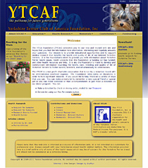 website redesign for the Yorkshire Terrier Club of America Foundation, Inc.
